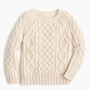 CREWCUTS J. CREW Cream Cable Knit Sweater NWT 1131